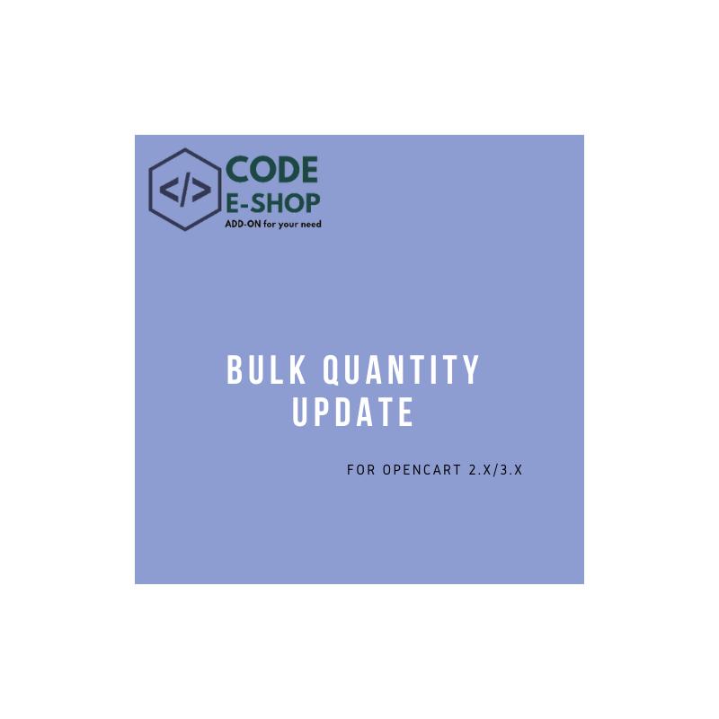 Bulk Quantity Update